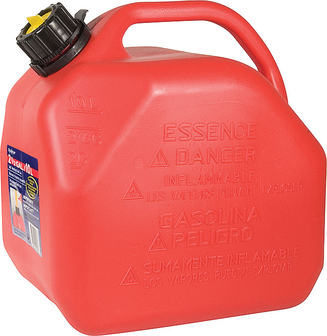 Red Gasoline Canister