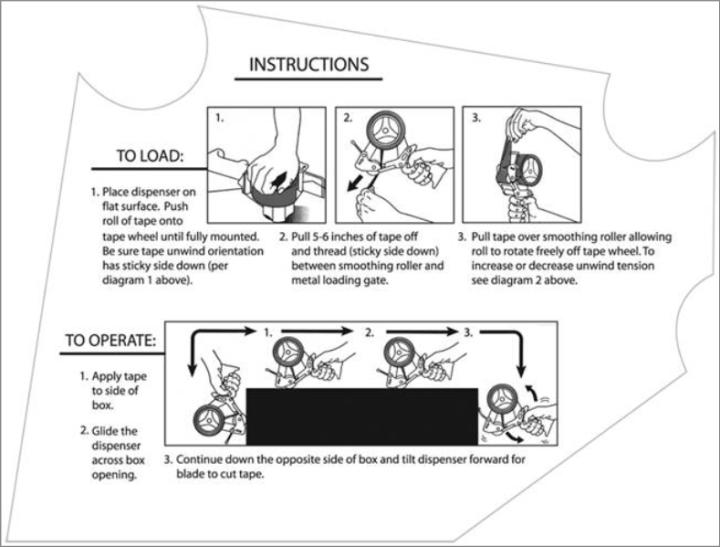 Tape Gun Dispenser Guide