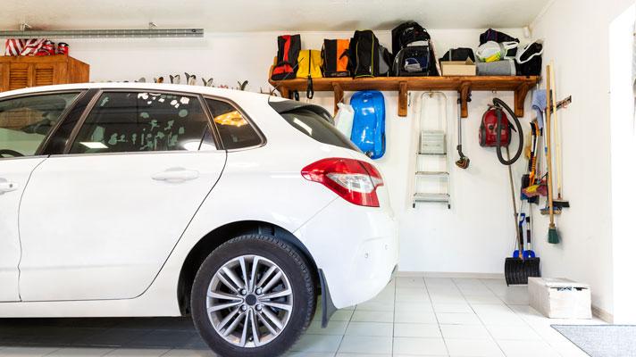 clean and organized garage