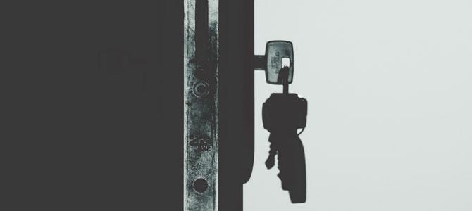 October is National Crime Prevention Month - lock on front door